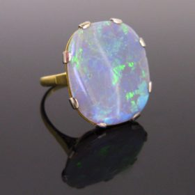 Retro Opal Ring, Gold & Platinum