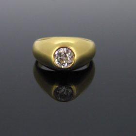 Retro Diamond Gypsy Ring 1950s