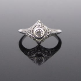 French Art Deco Diamonds Ring