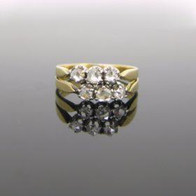 Edwardian 6 Rose Cut Diamonds Ring