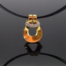Gold & Platinum Diamond Pendant Necklace