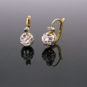 French Antique Diamonds Dormeuses