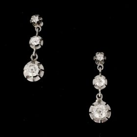 Art Deco Drops Diamonds Earrings