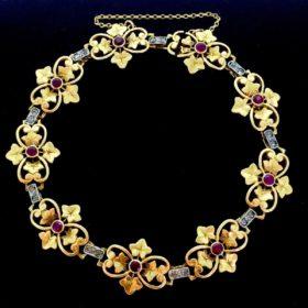 Art Nouveau Bracelet, Gold & Platinum