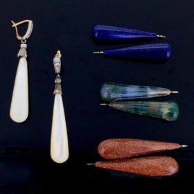 Antique Interchangeable Multistone Earrings