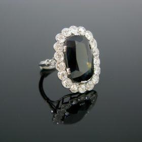Belle Epoque Sapphire Diamond Cluster Ring