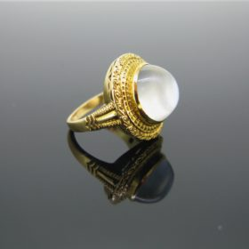 French Vintage Moon Stone Ring