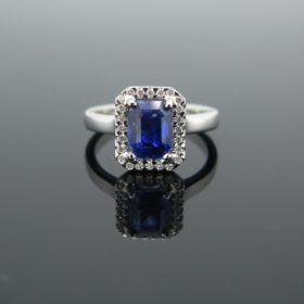 Ceylan Sapphire & Diamond Cluster Ring