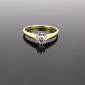 Diamond Single-Stone Solitaire Ring