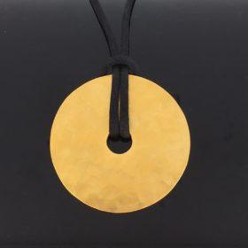 24kt Gold Pendant PI Disc By DINH VAN