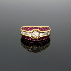 Aldebert Ruby & Diamonds Ring