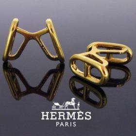 """Marine"" Yellow Gold Cufflinks by Hermes"
