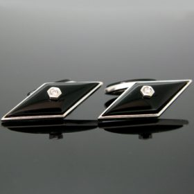 Art Deco Style Onyx Diamond Cufflinks