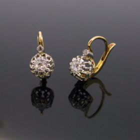 Belle Epoque Diamonds French Dormeuses