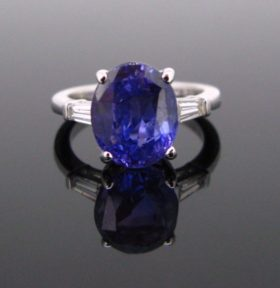 Colour Change Sapphire Diamonds Ring