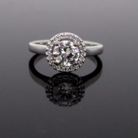 Solitaire Diamonds Cluster Ring