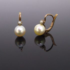 Victorian French Pearls Dormeuses Earrings