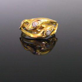Victorian Snake Diamonds Ring