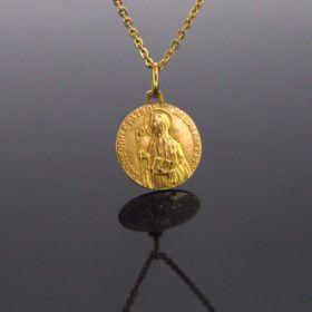 Vintage Religious Medal – Ste Odile – Pendant