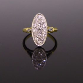 Brilliant Cut Diamonds Marquise Ring