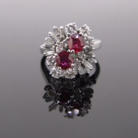 Flowers Ruby & Diamonds Ring