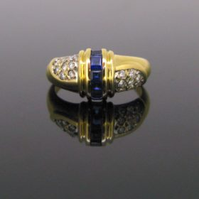 Vintage Sapphires and Diamonds Ring