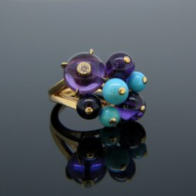 Delices de Goa Amethyst Turquoise Ring by Cartier