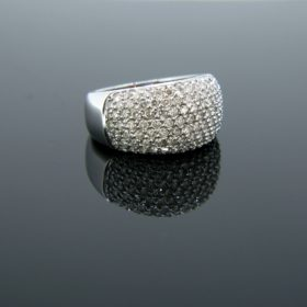 Contemporary Diamond Pave Ring