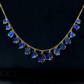 Vintage Graduated Sapphires Necklace