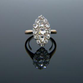 Antique Rose Cut Marquise Ring