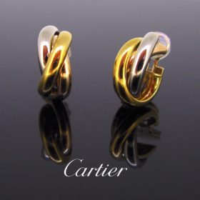Trinity 3 Golds Hoop Earrings Clips by Cartier