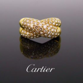 Crossover Diamonds Ring by Cartier