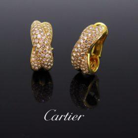 Crossover Diamonds Earrings by Cartier