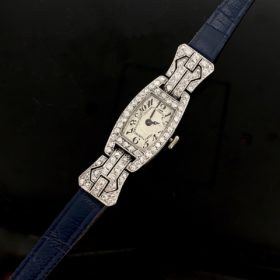 Art Deco Diamonds Platinum Lady Wristwatch