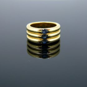 Ellipse Sapphire Band Ring by Cartier