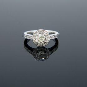 Solitaire 0.63 Carat Diamond Cluster Ring