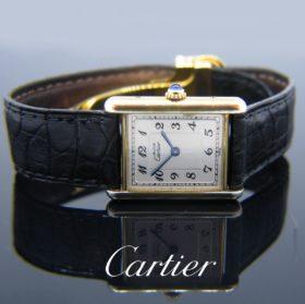 Vermeil Tank Wristwatch Must de Cartier