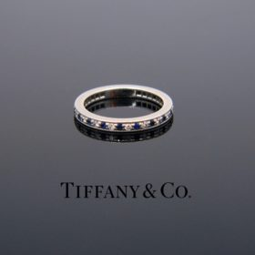 Diamond Sapphire Legacy Eternity Ring Tiffany &Co