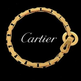Agrafe Yellow Gold Bracelet by Cartier