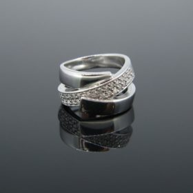 Contemporary Twist Diamond Ring
