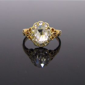 Antique Rose Cut Diamond Cluster Ring