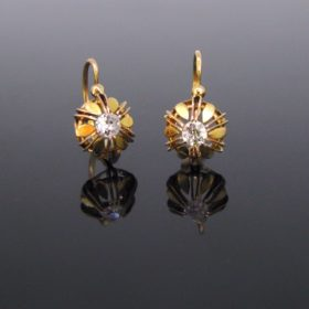 Victorian Diamonds Earrings Dormeuses