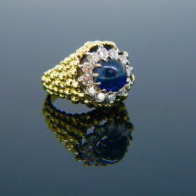 Kutchinsky Sapphire Diamonds Cluster Ring