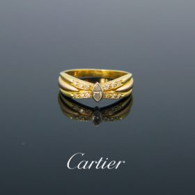 Cartier Diamond Navette Ring