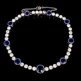 Belle Epoque Sapphire and Diamonds Bracelet