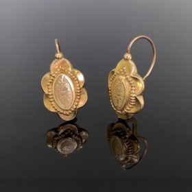 Antique Victorian Gold Dormeuses Earrings