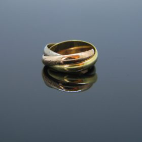 THREE GOLD TRINITY RING BY CARTIER