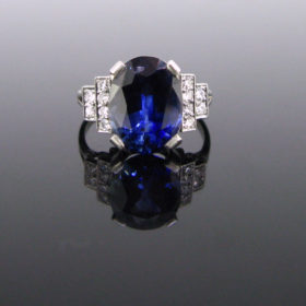 Art Deco Ceylon Sapphire Ring