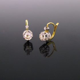 Antique Diamonds Dormeuses Earrings
