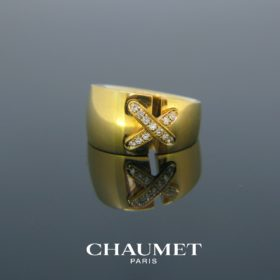 Chaumet Large Double Lien Diamonds Ring